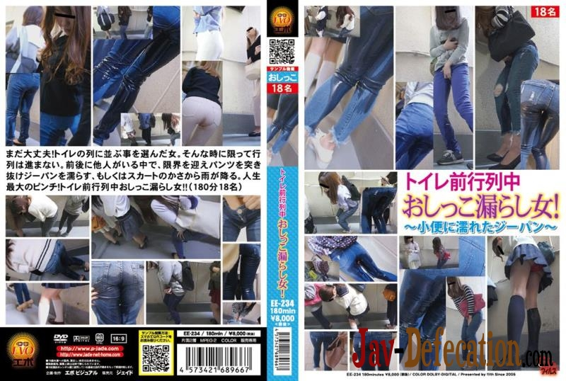EE-234 Piss in Jeans Accident on Public ~小便に濡れたジーパン~ (2018 | FullHD)