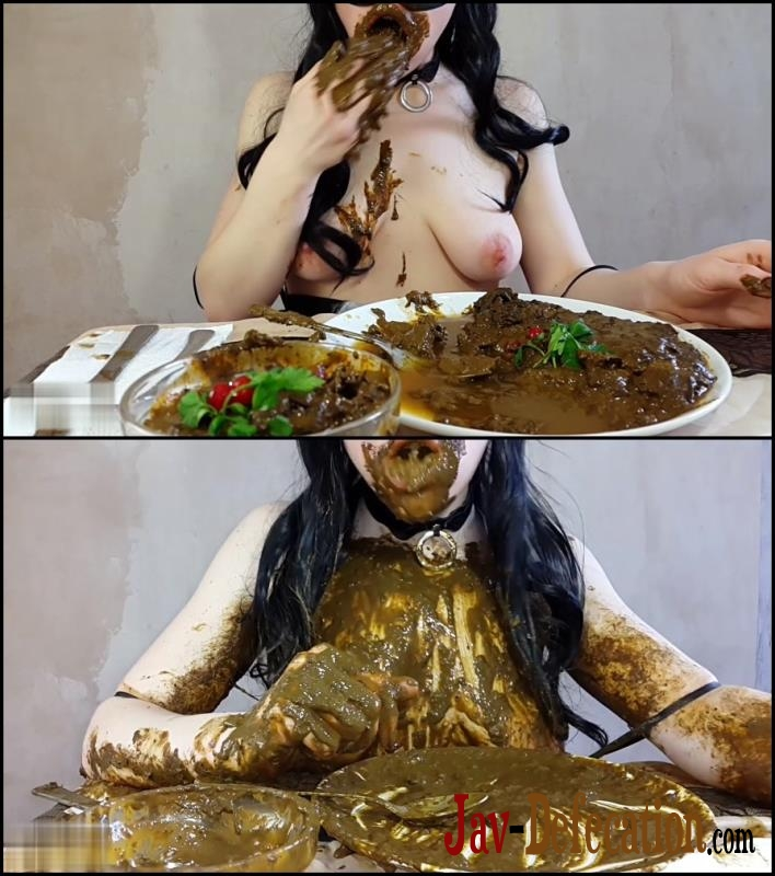[Special #547] Anna Coprofield made dinner out of shit and ate fresh shit (2018 | FullHD)