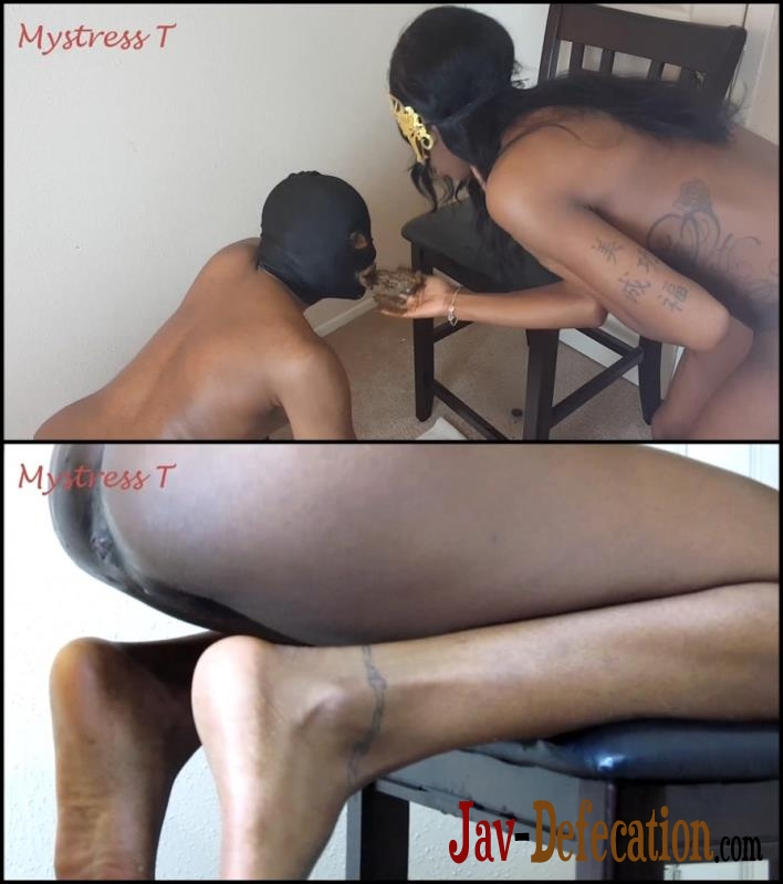 [Special #188] Ebony mistress shitting in mouth slave (2018 | FullHD)