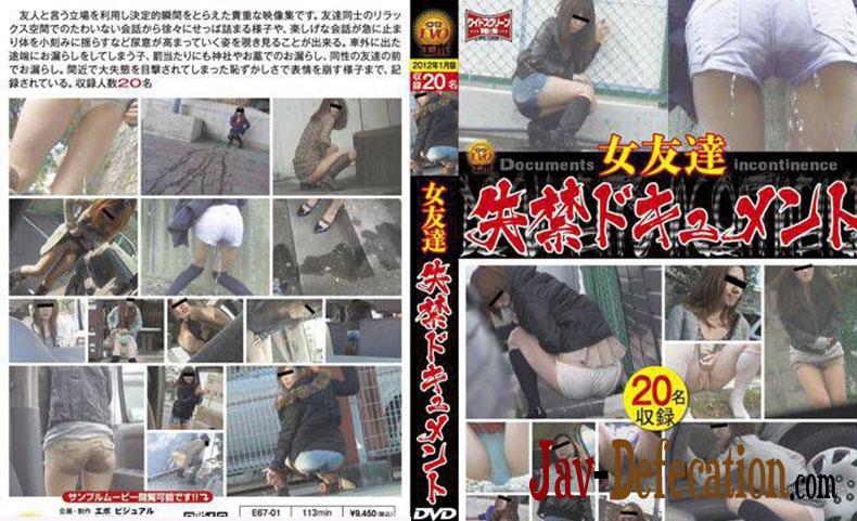 E67-01 女友達 失禁ドキュメント Friend Long Fed in the Toilet (2019 | SD)